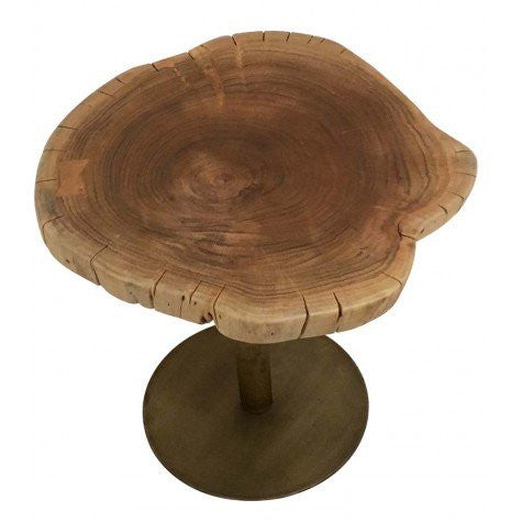 Tahara Wood Top Side Table