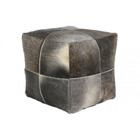DAUD LOW STOOL GRAY COWSKIN