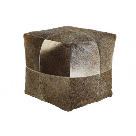 DAUD LOW STOOL BROWN COWSKIN