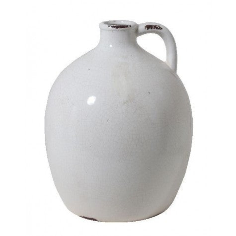 STROOM VASE WHITE CRACKLE CERAMIC