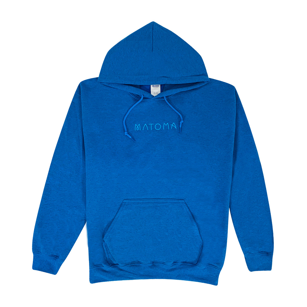 Embroidered Logo Hoodie (Sapphire Heather)