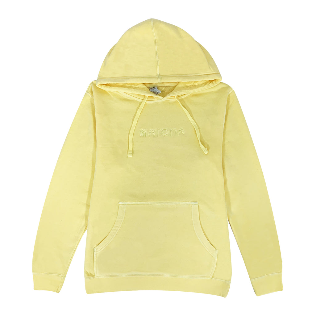 Embroidered Logo Hoodie (Pale Yellow)