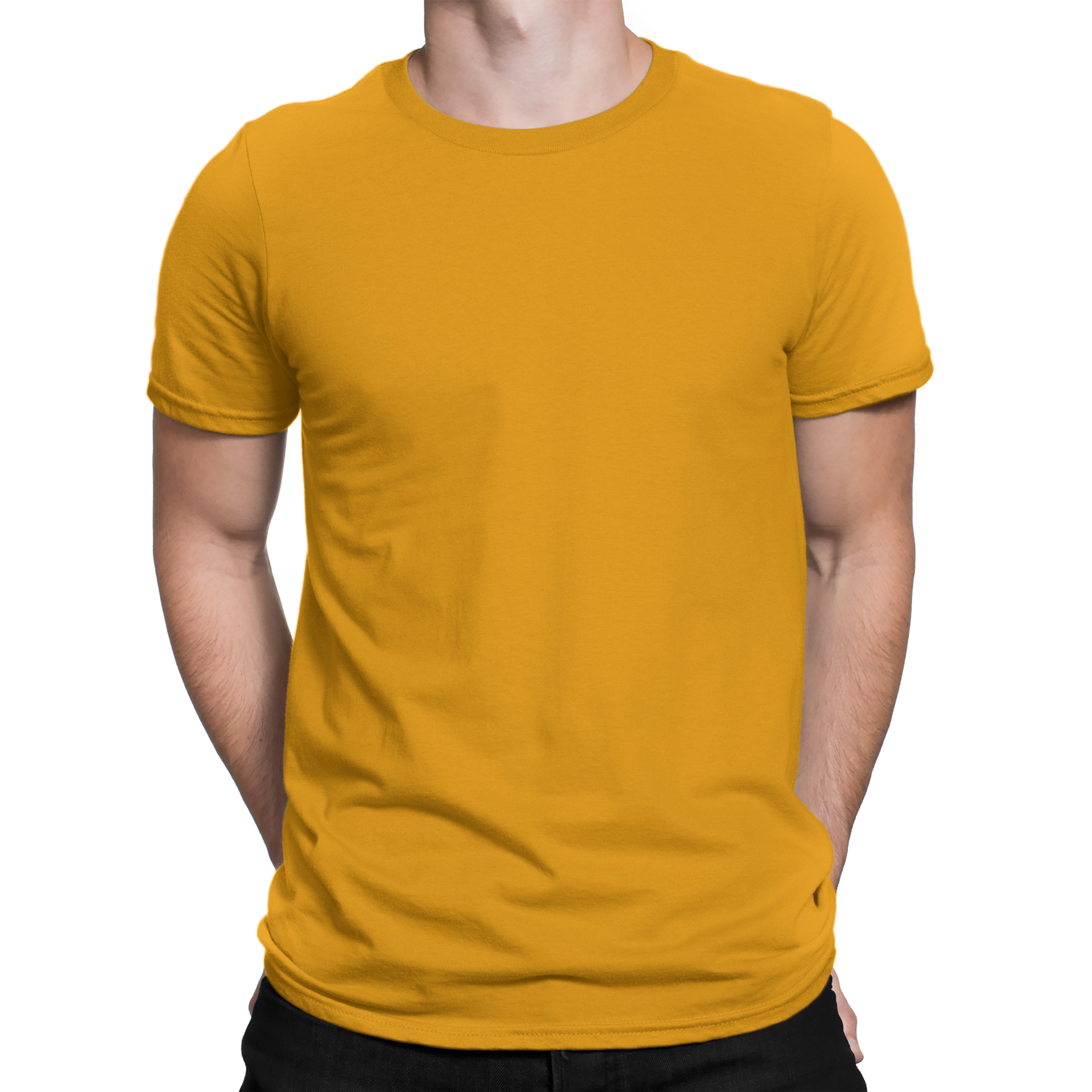Men's Basic Yellow T-Shirt by Silly Punter in India