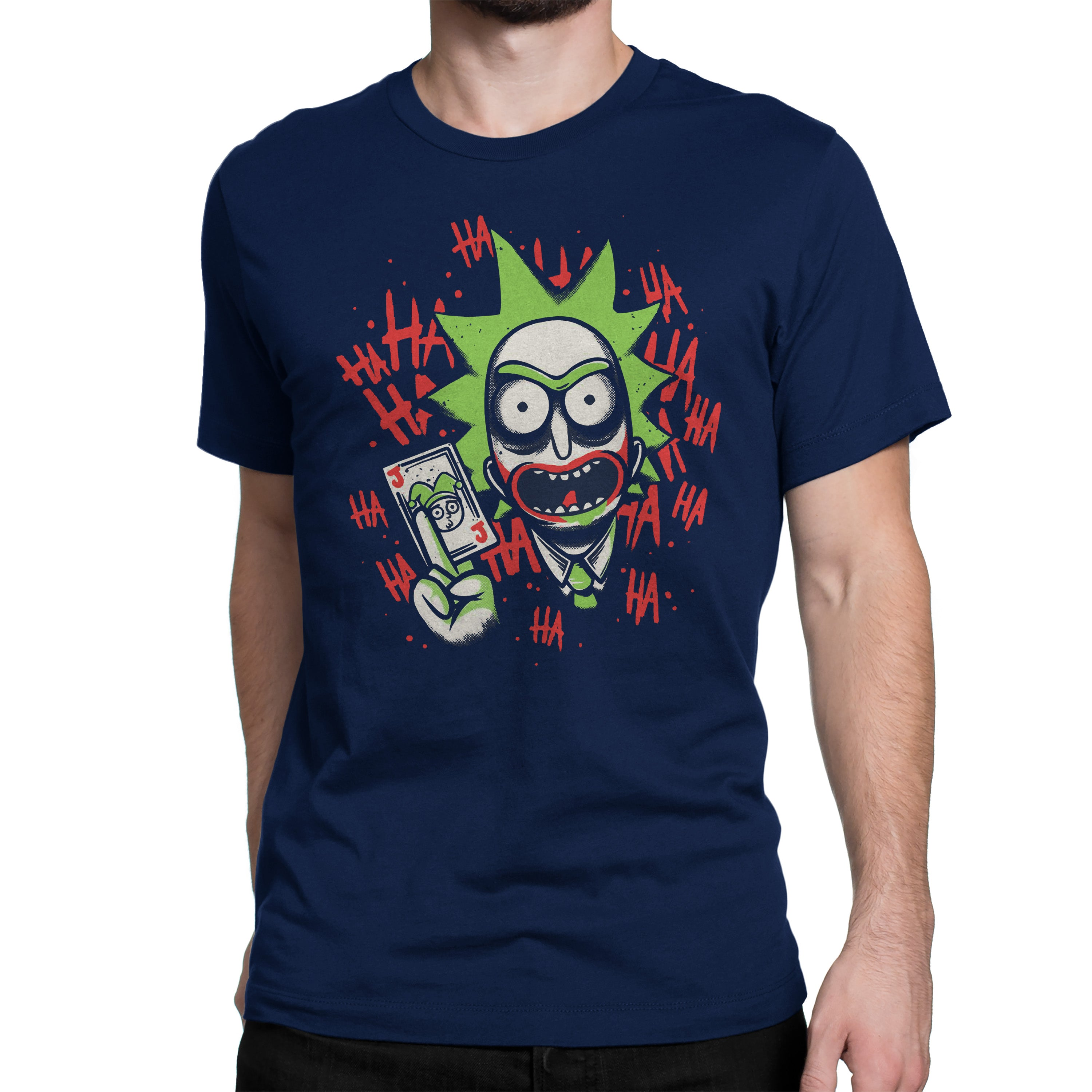 3f350a5d ... jokkerrick tshirt in India by silly punter rick and morty and batman ...
