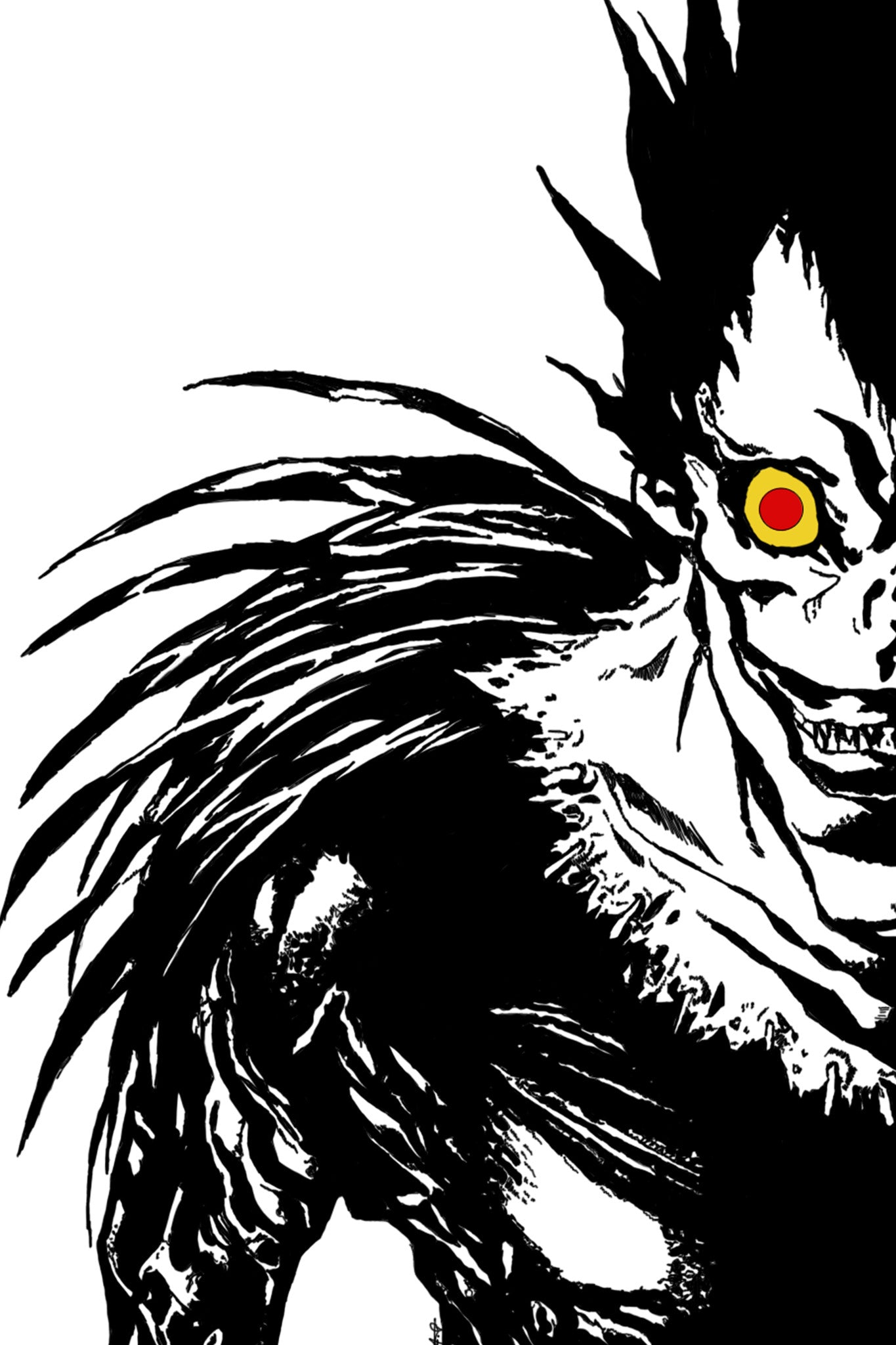 Anime Ryuk from Death Note poster in India - Silly Punter