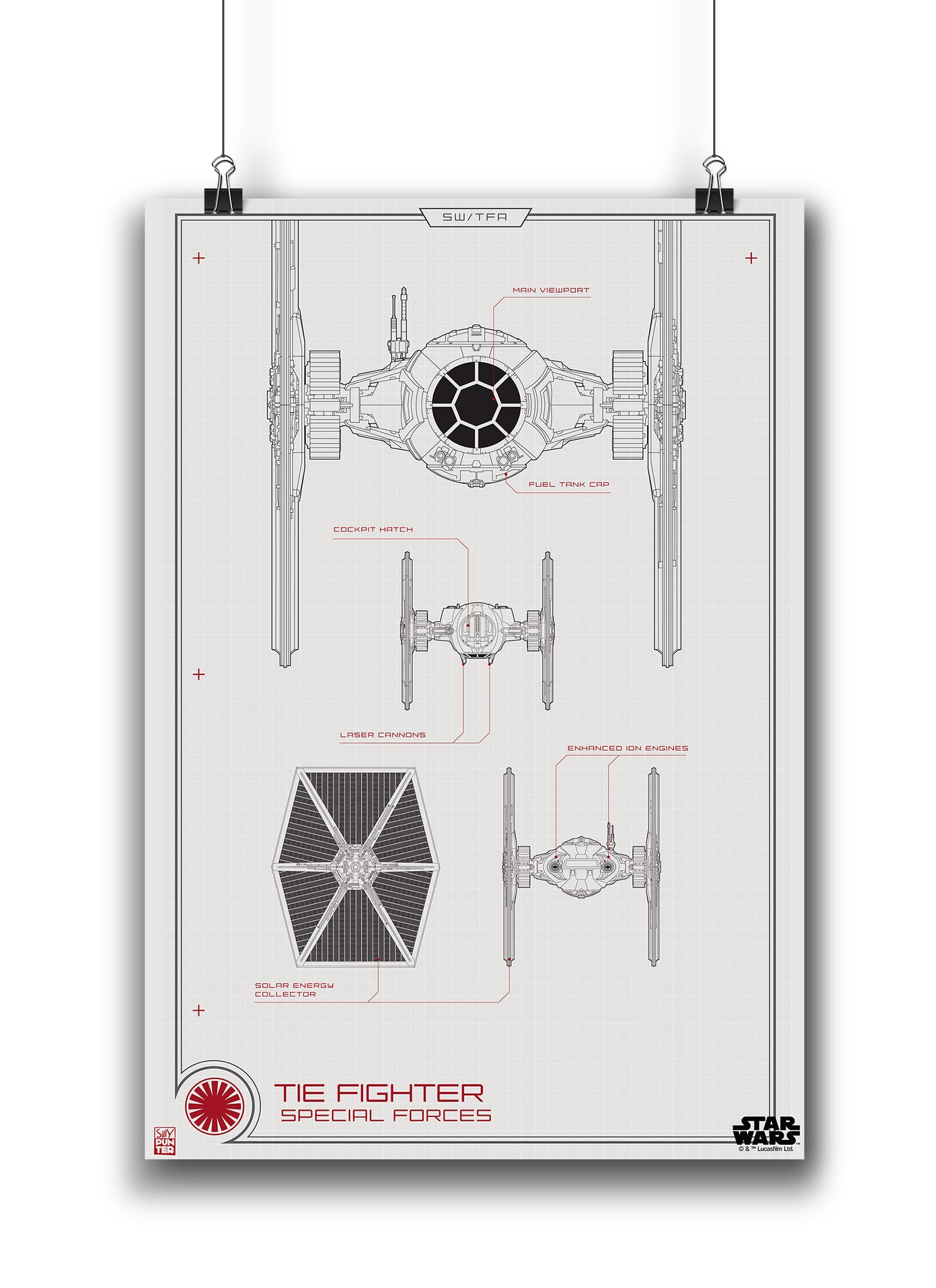Star wars tie fighter special forces blueprint poster in india star wars tie fighter special forces blueprint poster malvernweather Images