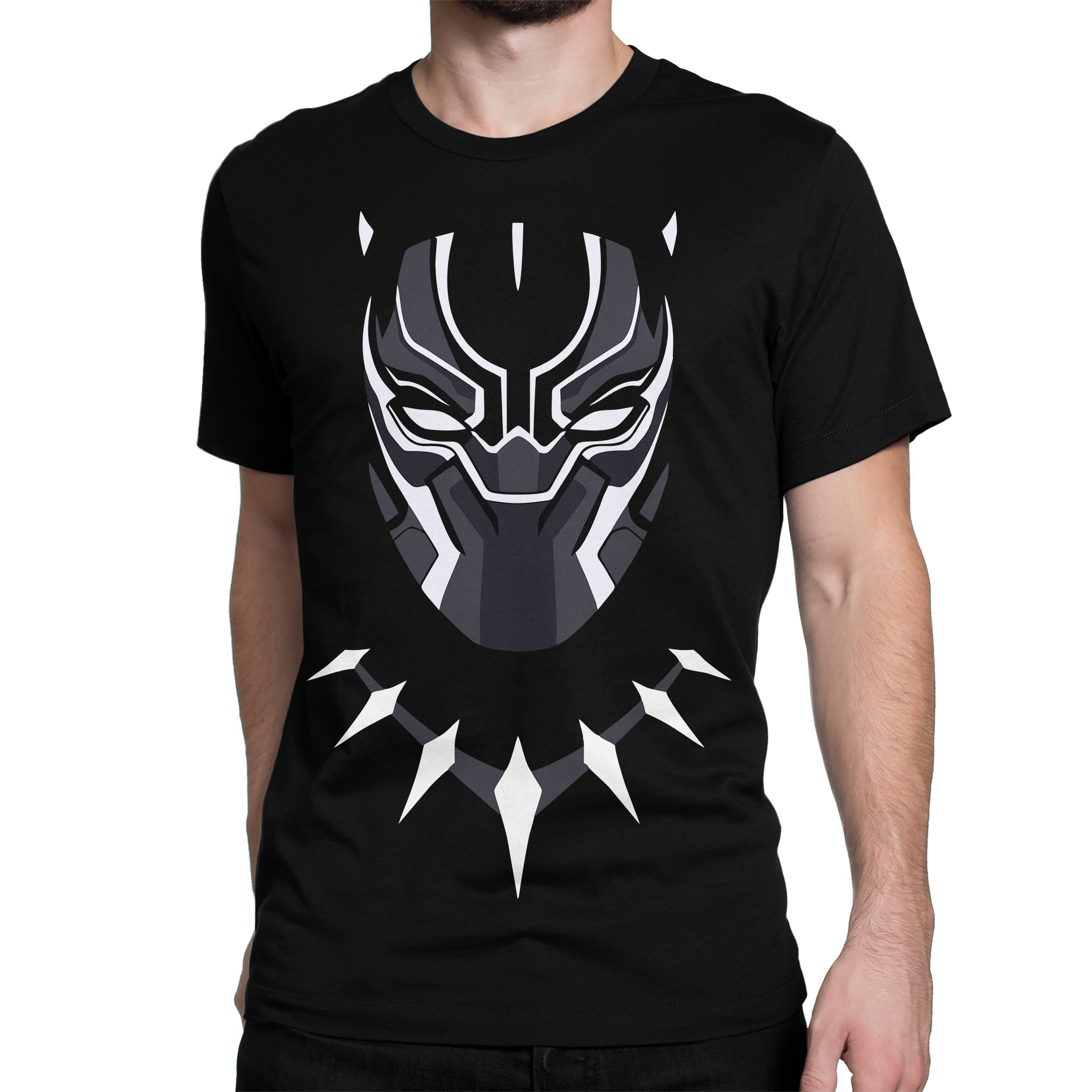 d1aa4d8a5b ... The Black Panther Tchalla Marvel Black panther T Shirt In India by  Silly punter
