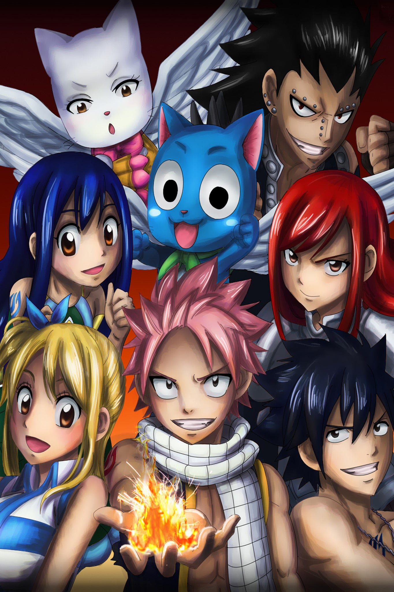 Anime Fairy Tail Characters Poster in India - Silly Punter