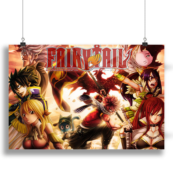 Anime In India: Anime Fairy Tail Cover Poster In India