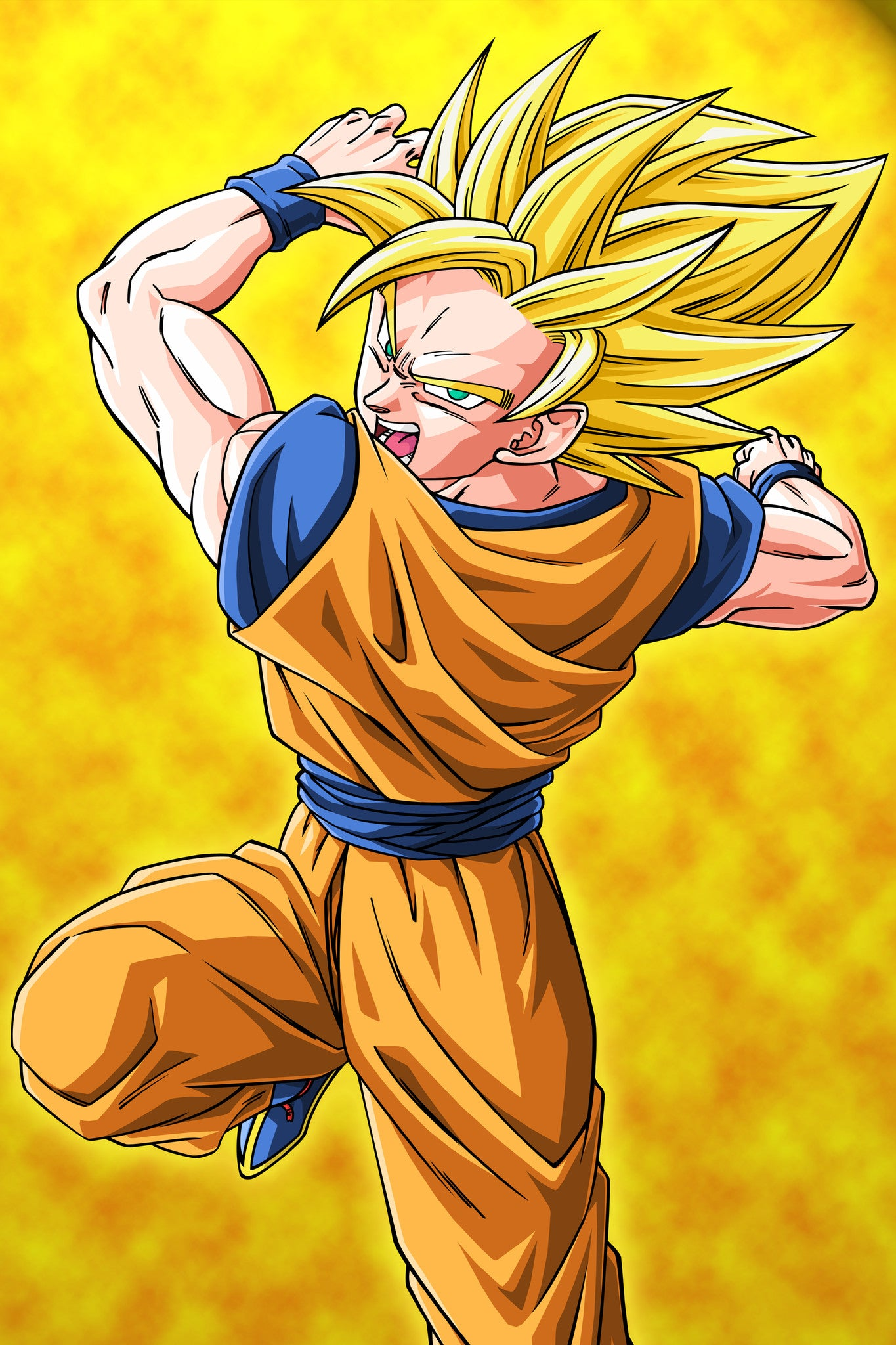 Dragon ball z silly punter anime dargon ball z goku super saiyan 2 poster in india by sillypunter thecheapjerseys Choice Image