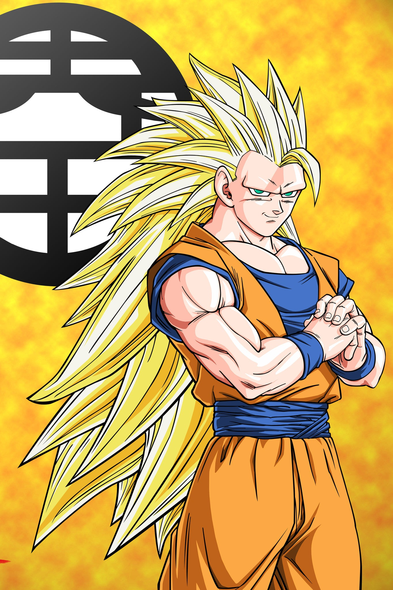 anime dargon ball z goku super saiyan 3 poster in india silly punter