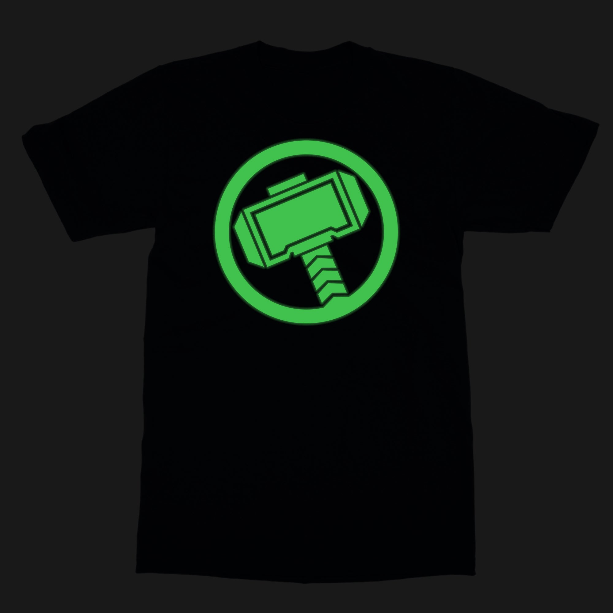 Marvel Thor Glow In The Dark Logo Logo By Marvel T Shirt Silly Punter