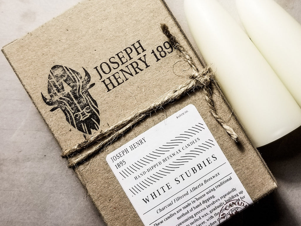 New White Beeswax Candles