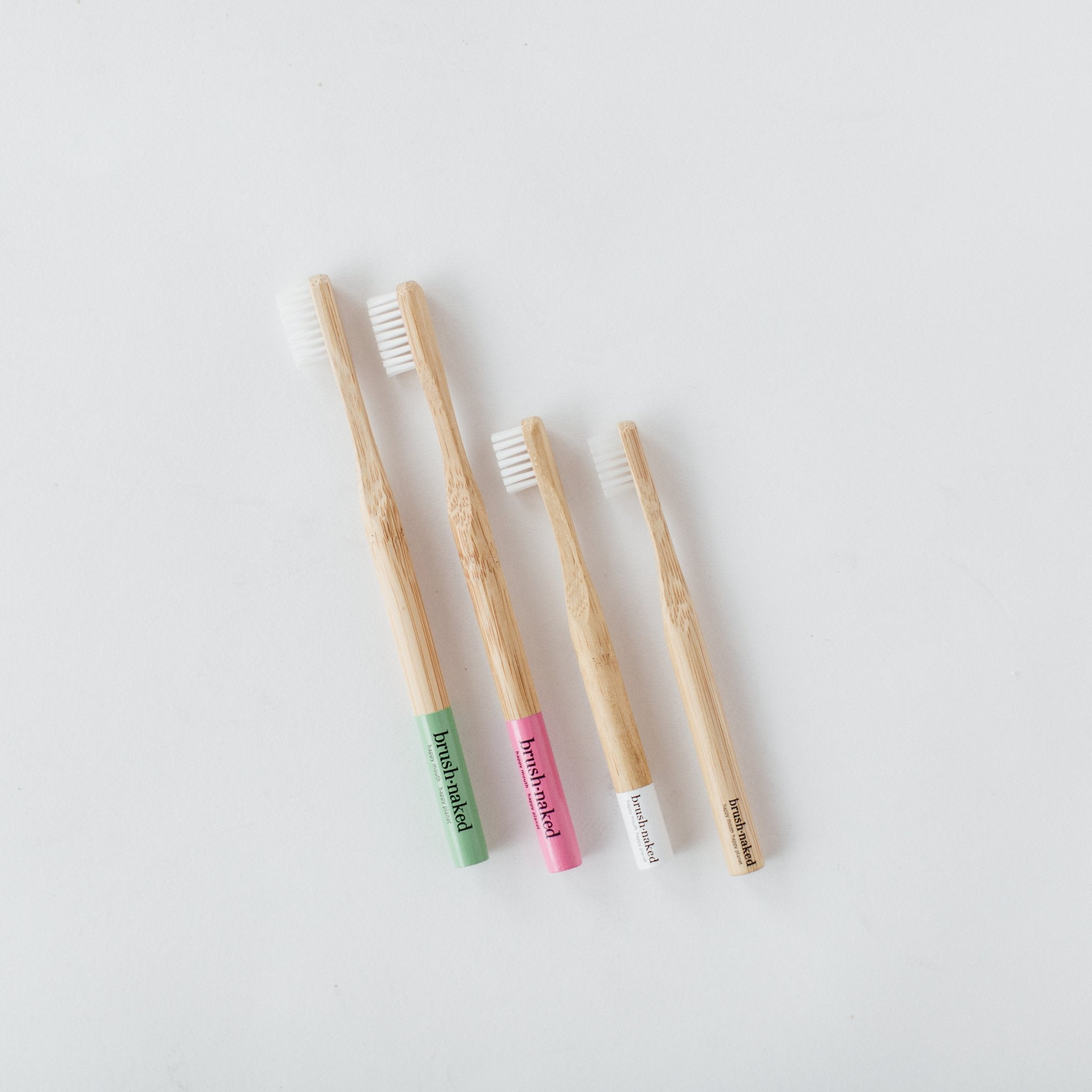 Biodegradable Bamboo Toothbrush, Plant-Based Bristle, Adult, Kids
