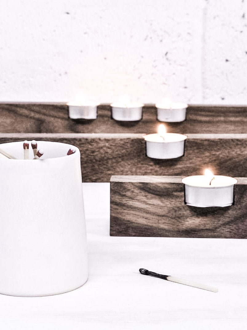 Offset Tea Light Holder