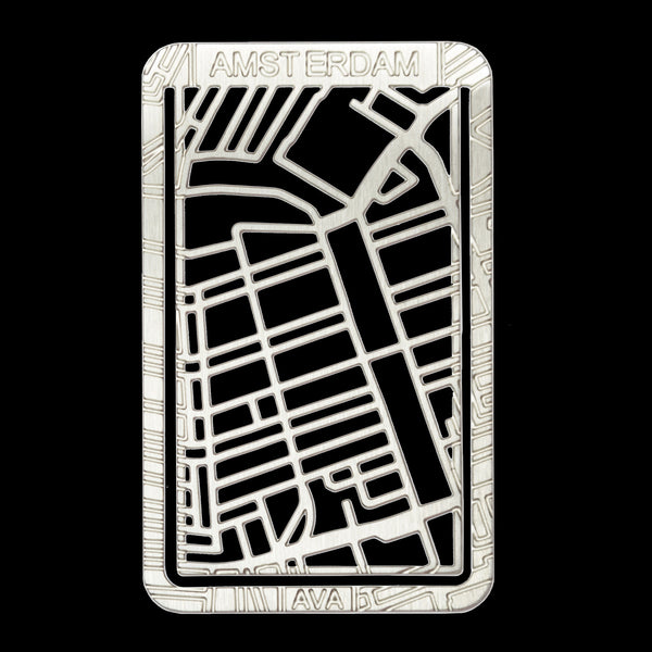 Bookmarker Street Map - AMSTERDAM