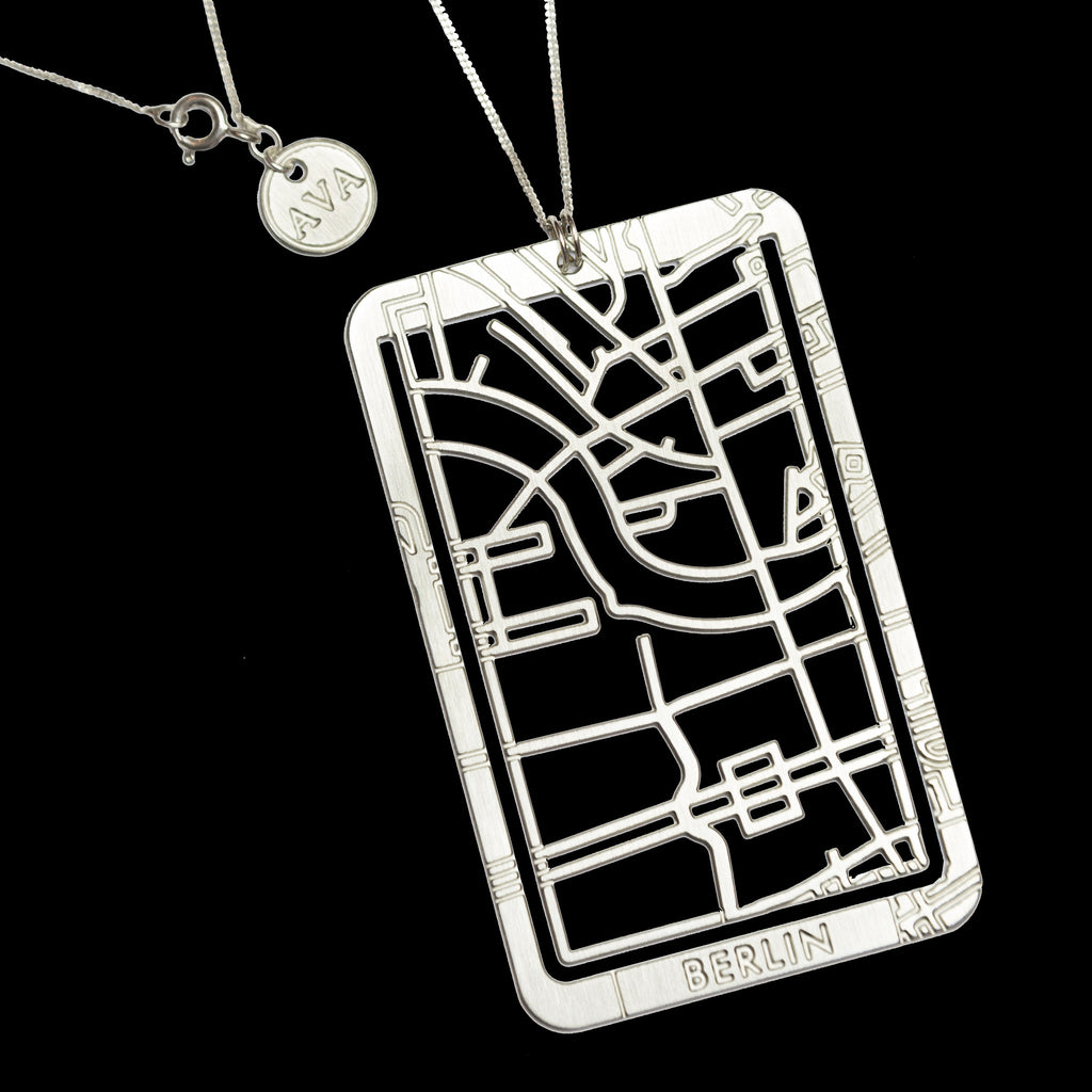 Bookmarker & Pendant Street Map - BERLIN