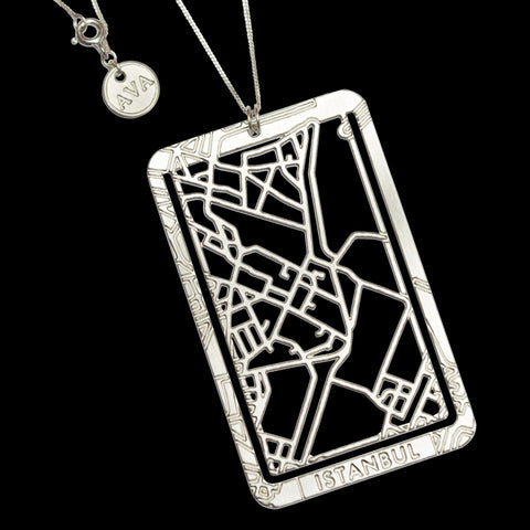 Bookmarker & Pendant Street Map - ISTANBUL