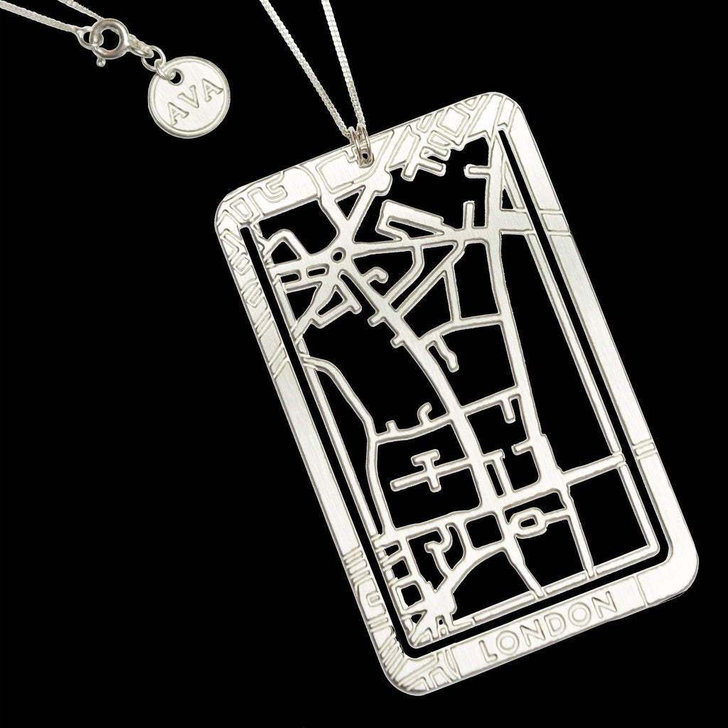 Bookmarker & Pendant Street Map - LONDON / Big Ben & Westminster