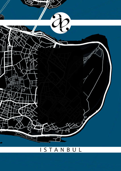 Bookmarker Street Map - ISTANBUL