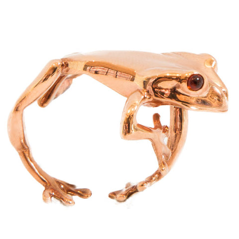 Rainforest Frog Ring - Rose Gold Plated (Adjustable)