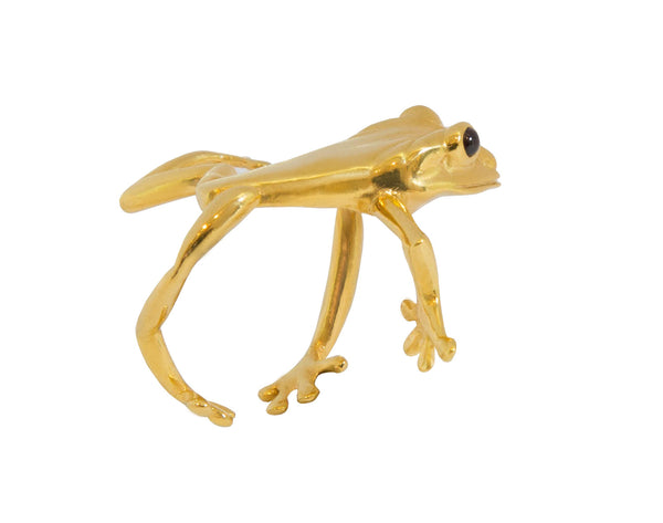 Rainforest Frog Ring - Yellow Gold Plated (Adjustable)