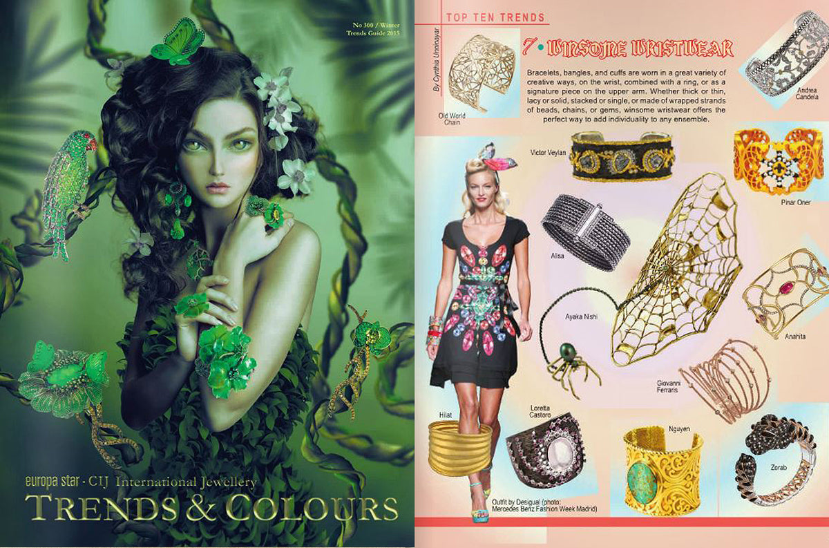 Nina Nguyen Designs Jewelry Turquoise Gold Cuff Trends & Colours Jewelry Wristwear Feature