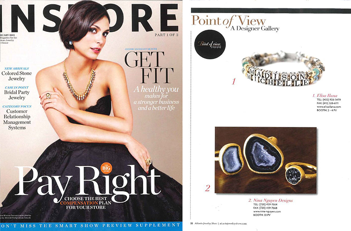 Nina Nguyen Designs Gold Geode Ring Black Druzy Ring Instore Magazine Designer Gallery Feature