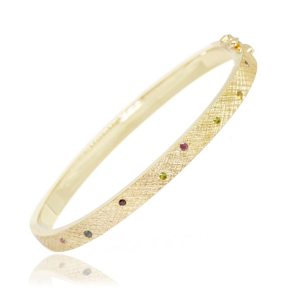 Florentine Tourmaline Bangle [product_metal] - Nina Nguyen Designs