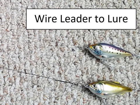 Lure attachment to the Stealthy Hybrid Leader