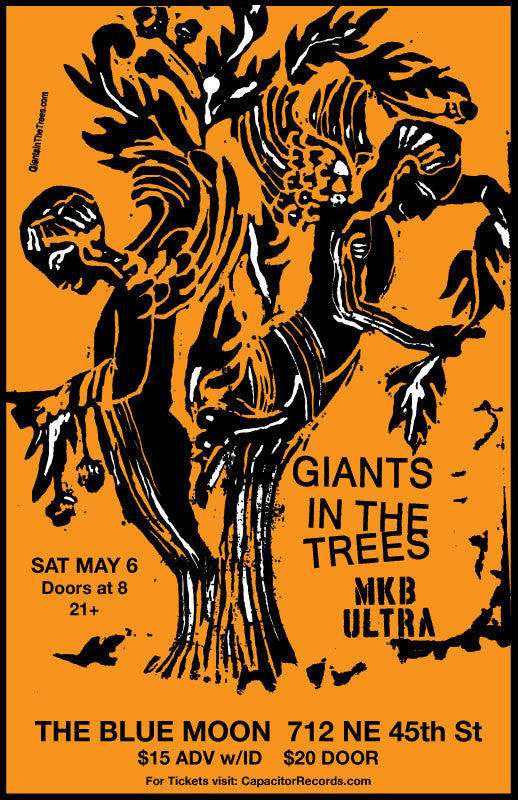 Tickets available now for Giants in the Trees & MKB ULTRA