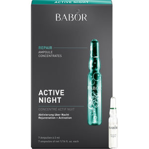 Babor - AMPOULE CONCENTRATES - REPAIR - Active Night - Contents: 7 x 2 ml (14 ml) - Affinity Skin Care