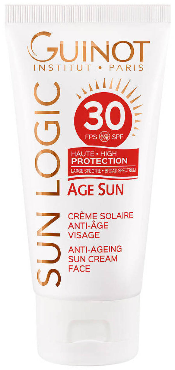 Guinot Sun Logic Sunscreen Cream Face & Body SPF 30 - 1.4 oz - Affinity Skin Care