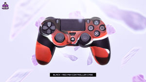 FATAL GRIPS | BLACK/RED PS4 CONTROLLER CASE - fatalgrips