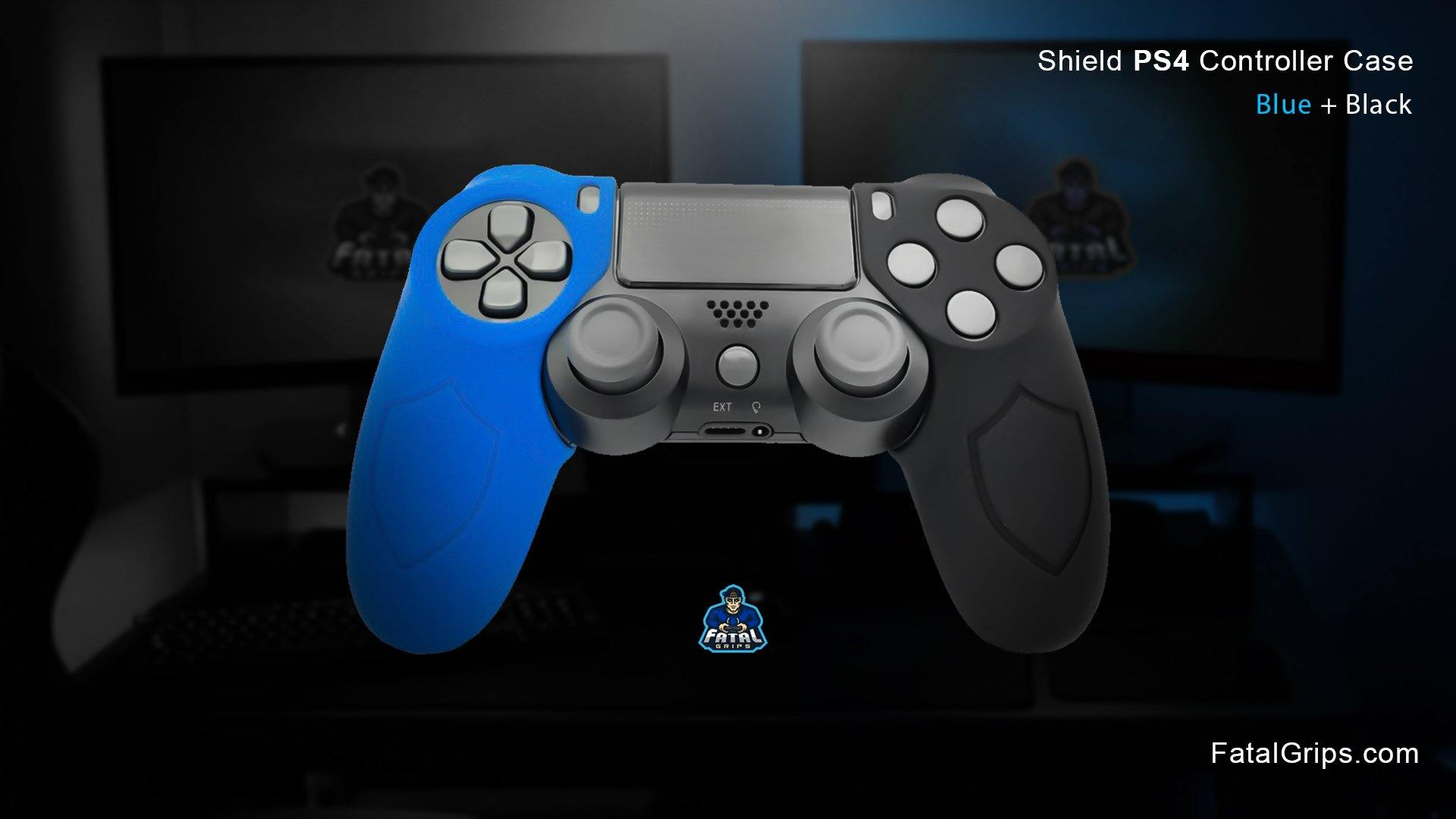 Blue/Black PS4 Shield Controller Case - fatalgrips