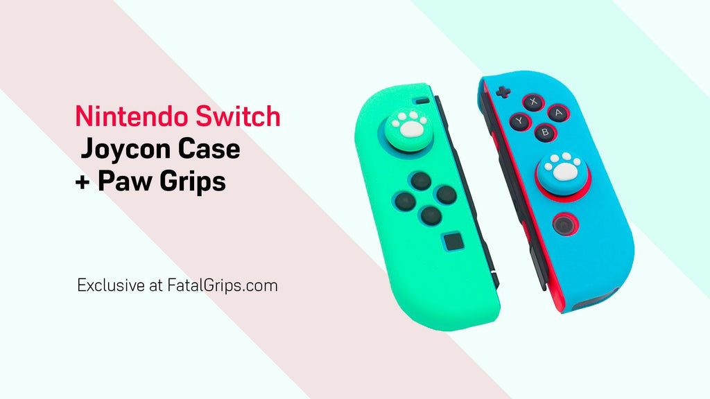 Animal Crossing Inspired Joycon Case + Paw Grips - fatalgrips