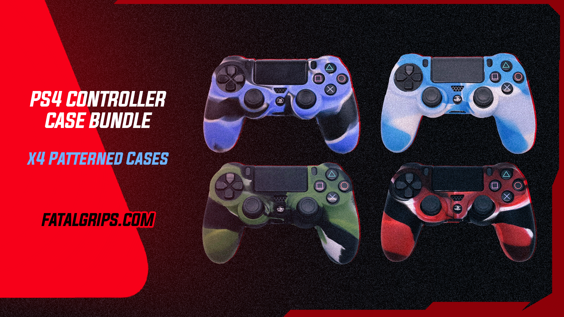 x4 PATTERNED PS4 CONTROLLER CASES - Fatal Grips