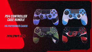 x4 PATTERNED PS4 CONTROLLER CASES