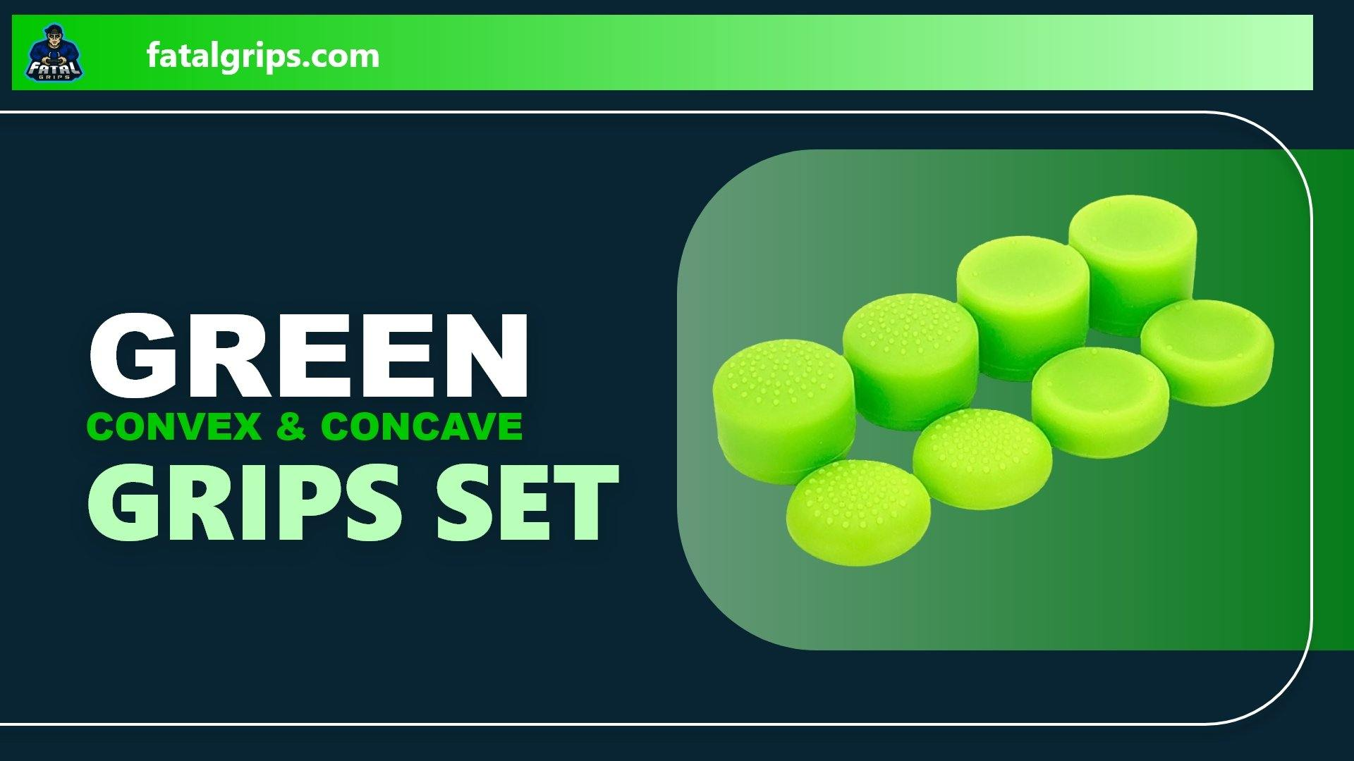 Green Convex & Concave Grips Set - Fatal Grips