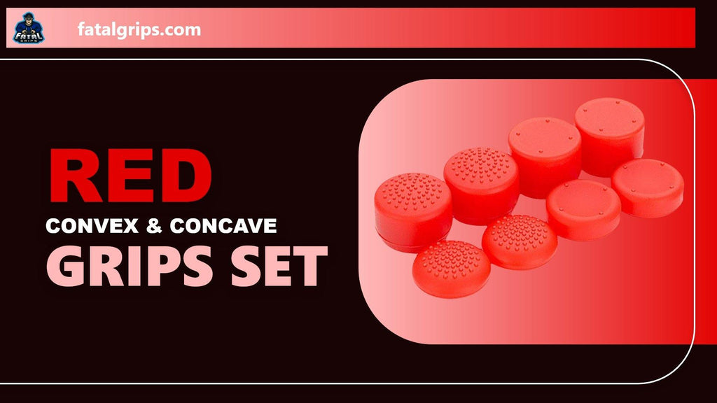 Red Convex & Concave Grips Set - fatalgrips