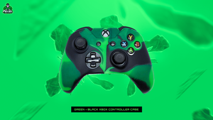 GREEN/BLACK XBOX ONE CONTROLLER CASE - fatalgrips