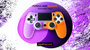 Purple/Orange Studded Dots PS4 Controller Case - Fatal Grips