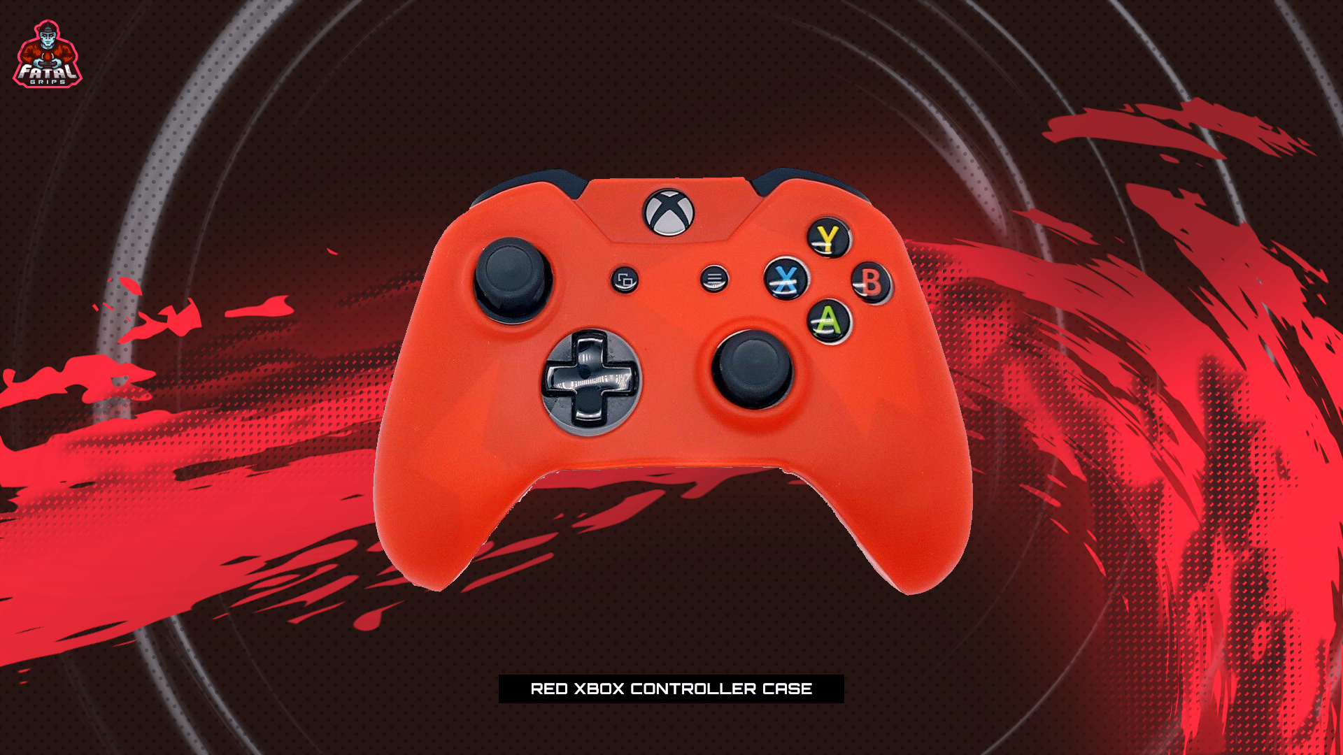 RED XBOX ONE CONTROLLER CASE - fatalgrips