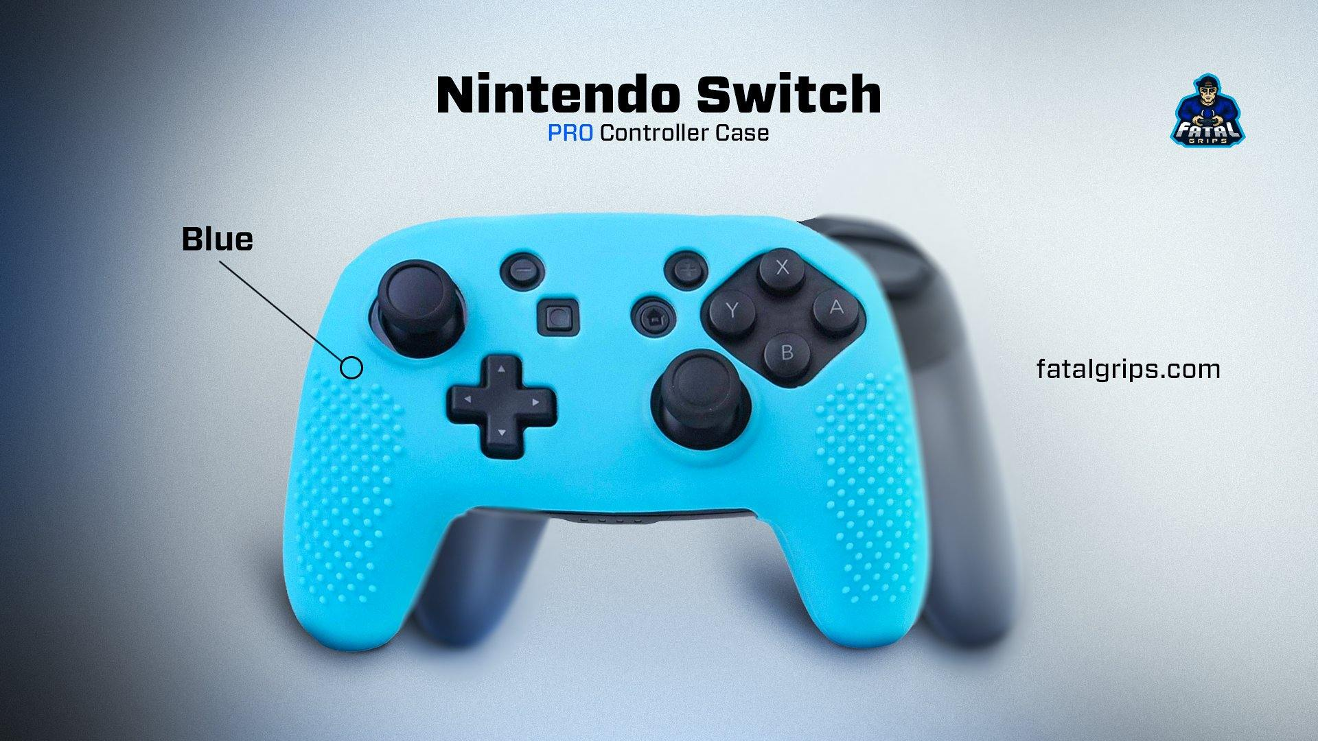 Nintendo Switch Pro Controller Case (Blue) - fatalgrips