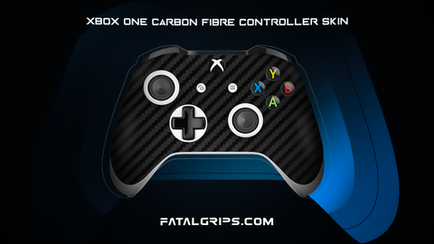 BLACK CARBON FIBER WRAPS/SKINS FOR XBOX ONE S CONTROLLER