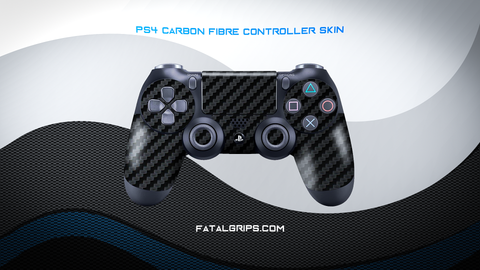 BLACK CARBON FIBER WRAPS/SKINS FOR PS4 CONTROLLER