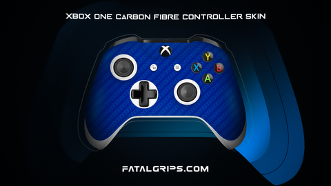 BLUE CARBON FIBER WRAPS/SKINS FOR XBOX ONE S CONTROLLER