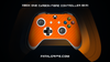 ORANGE CARBON FIBER WRAPS/SKINS FOR XBOX ONE S CONTROLLER - Fatal Grips