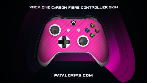 PINK CARBON FIBER WRAPS/SKINS FOR XBOX ONE S CONTROLLER