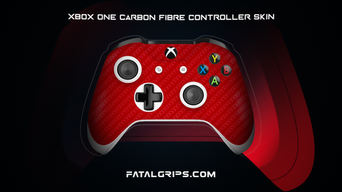 RED CARBON FIBER WRAPS/SKINS FOR XBOX ONE S CONTROLLER